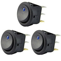 3Pc 12V 20A Attuatore un Bilanciere Interruttore un LED Luce Blu SPST Contr W6M4