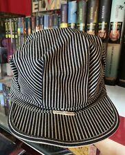 Vintage Big Mac Penny Union Made Hickory Strip Railroad Engineer Hat Cap! 6. 5/8