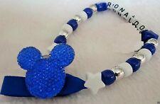 Personalizado impresionante azul real clip de Mickey Maniquí cadena Hermoso Regalo Chicos