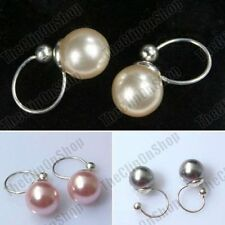 Pearl Brass plated Costume Earrings
