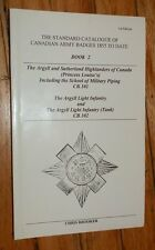 STANDARD CATALOGUE OF CANADIAN ARMY BADGES 1855 to DATE BOOK 2 1st 1996