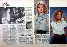 SHEILA  et DALIDA => coupure de presse 1  page de TELE 7 JOURS 1981