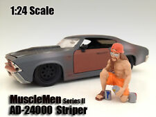 MUSCLEMEN STRIPER  FIGURE FOR 1:24 SCALE DIECAST MODELS AMERICAN DIORAMA 24000
