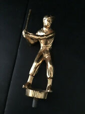 "Male Baseball Trophy Figure - 4-1/2"" Tall - Gold - At Bat"