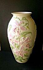"VTG LENOX 18""Height English Lily Porcelain Vase W/Gold Trim Ltd edition of 500"