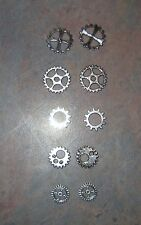 Mixed lot of 5 Different Steampunk Silver Gears Pendant Charms 10Pcs 2 of each