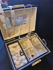 Vintage/moderm Jewellery Lot & Leather Box Swarovski Crystal Charm Necklace Vgc