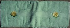 HAND TOWEL - PALE GREEN / MINT WITH CREAM ROSE EMBROIDERY - New