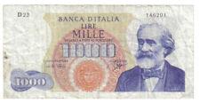 1000 lire verdi I° tipo 14 01 1964 raro mb+ naturale LOTTO 703