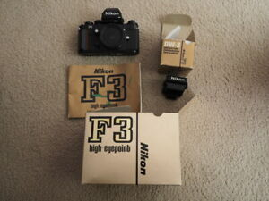 Nikon F3HP 35mm SLR Film Camera Body + DW3 finder - excellent as new condition