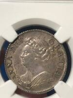 Certified Great Britain 1708 Anne Silver Shilling Coin NGC AU58 S-3610 ESC 1147