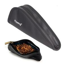 Portable PU Leather Single Smoking Tobacco Pipe Bag Holder Pouch + Tobacco Pouch