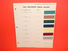 1961 CHEVROLET CHEVY PICKUP TRUCK CORVAIR 95 VAN SUBURBAN PANEL CAB PAINT CHIPS
