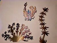 Metal art Corals,Seashell,Ocean,Marine life,Lodge,Home,Beach house,wall art