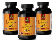 Bodybuilding Supplement - L-TAURINE 500mg - Enhances Immune Function - 3 Bottles