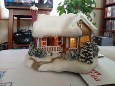 Thomas Kinkade light up Christmas House * Childhood Home 2008