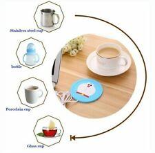 USB Warmer Gadget Cartoon Silicone thin Cup-Pad Coffee Tea Drink usb Heater Tray