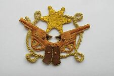 "#3060 2-3/4"" Western Cowboy Gun,Star,Rope Embroidery Iron On Applique Patch"