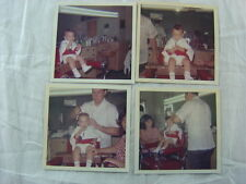 Vintage 1965 Color Photos Boy's First Haircut in Barber Shop Interior 783004