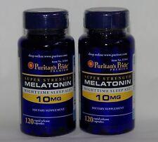 2X 120 Puritan's Pride Super Strength Melatonin 10 mg - (240) Capsules Sleep Aid