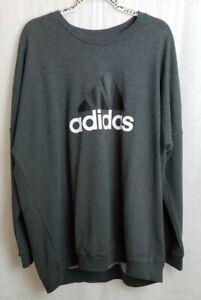 Addidas Womens Gray Pullover SweatShirt Crewneck Size 2XL MSRP: $50.00