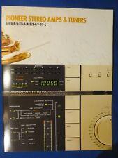 Pioneer A-9 A-8 A-7 A-6 A-5 F-9 F-7 F-5 Int Amp Tuner Sales Brochure Catalog