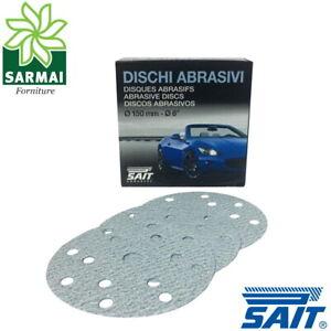 SAIT SAITAC dischi abrasivi su velcro velcrati tipo 6S ceramici diam 150 15 fori