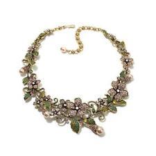 "Heidi Daus Cinderella ""Fairytale Forest"" Crystal Link 15"" Necklace $240 Retail"
