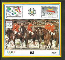 PARAGUAY OLYMPIC 1992 MICHEL BLOCK 455 SPECIMEN MNH