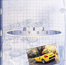 2000 2001 Toyota Mr2 Spyder 18-page Original Car Sales Brochure Catalog
