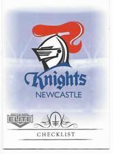 2018 NRL Elite Base Card (071) CHECKLIST Knights