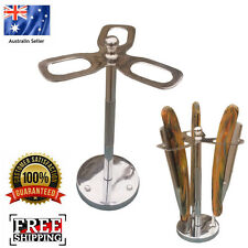 HEAVY DUTY STAINLESS STEEL CUT THROAT RAZORS STAND BARBER