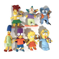 The Simpsons Official Plush 7 Set Lot Bart Lisa Maggie Marge Krusty Bob NWT 2005