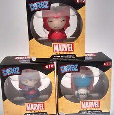 DORBZ Marvel 3 pcs 010 - 011 - 012  NIB Magneto, scarlet witch, Mystique