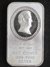James Buchanan Silver Art Bar MAD-87 Madison Mint P1195