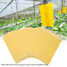 20x Yellow Sticky Glue Paper Insect Trap Catcher Killer Fly Bugs Aphids Wasp Us