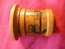 More details for mauchline ware thimble holder / pincushion, wallace monument, stirling, treen
