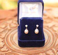 Boucle d'oreilles Perles et diamants