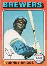 1975 Topps Mini #123 Johnny Briggs Milwaukee Brewers (2018-0736)