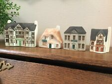 Phillip Laureston England Mini Houses Ceramic The Manor, Tollhouse, Cafe, Museum