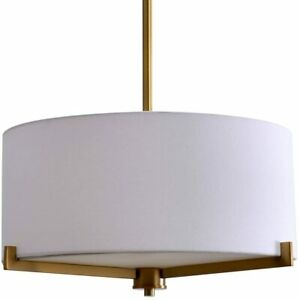 Catalina Lighting 19741-001 Traditional 3 Pendant Ceiling Light with Linen 19""