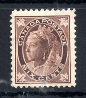 Canada QV 1897 6c brown mint MH #147 WS13941