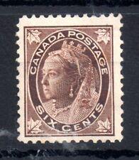 Canada QV 1897 6c brown mint MH #147 WS13941