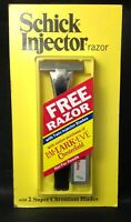 RARE SCHICK INJECTOR TWIN BLADE RAZOR 1974 NOS  NEW CHROMIUM BLADES ADVERTISING