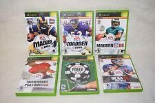 Lot Of 6 Xbox Games- World Series of Poker, Golf, Footbal, Madden