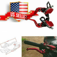 """7/8"""" (22mm) Aluminum Motorcycle Hydraulic Brake Master Cylinder&Clutch Lever US"""