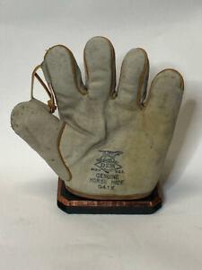 Circa 1920's Draper & Maynard G41X Split Finger Tunnel Loop White Baseball Glove