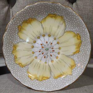 Vintage 1947 English Tuscan Yellow Poppy Saucer