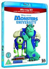 Blu Ray MONSTERS UNIVERSITY tru 3D and 2D. Walt Disney Pixar. Brand new sealed.