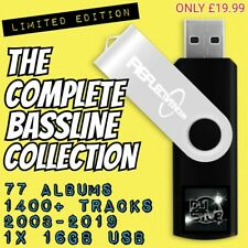 COMPLETE BASSLINE COLLECTION, DJ STU-E, 78 ALBUMS, 1400+ TRACKS, 16GB USB
